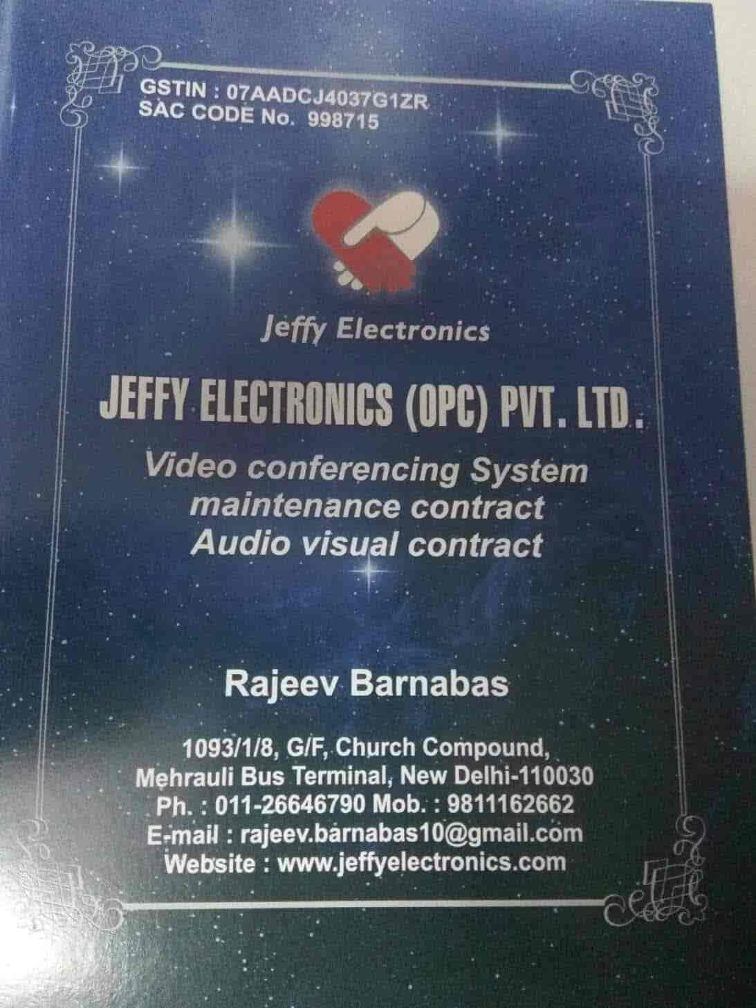 Jeffy Electronics Opc Pvt Ltd, Mehrauli - TV Repair & Services in