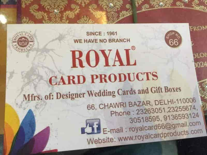 wedding cards in hyderabad general bazar%0A Royal Card Products  Chawri Bazar  Wedding Card Dealers in Delhi  Justdial