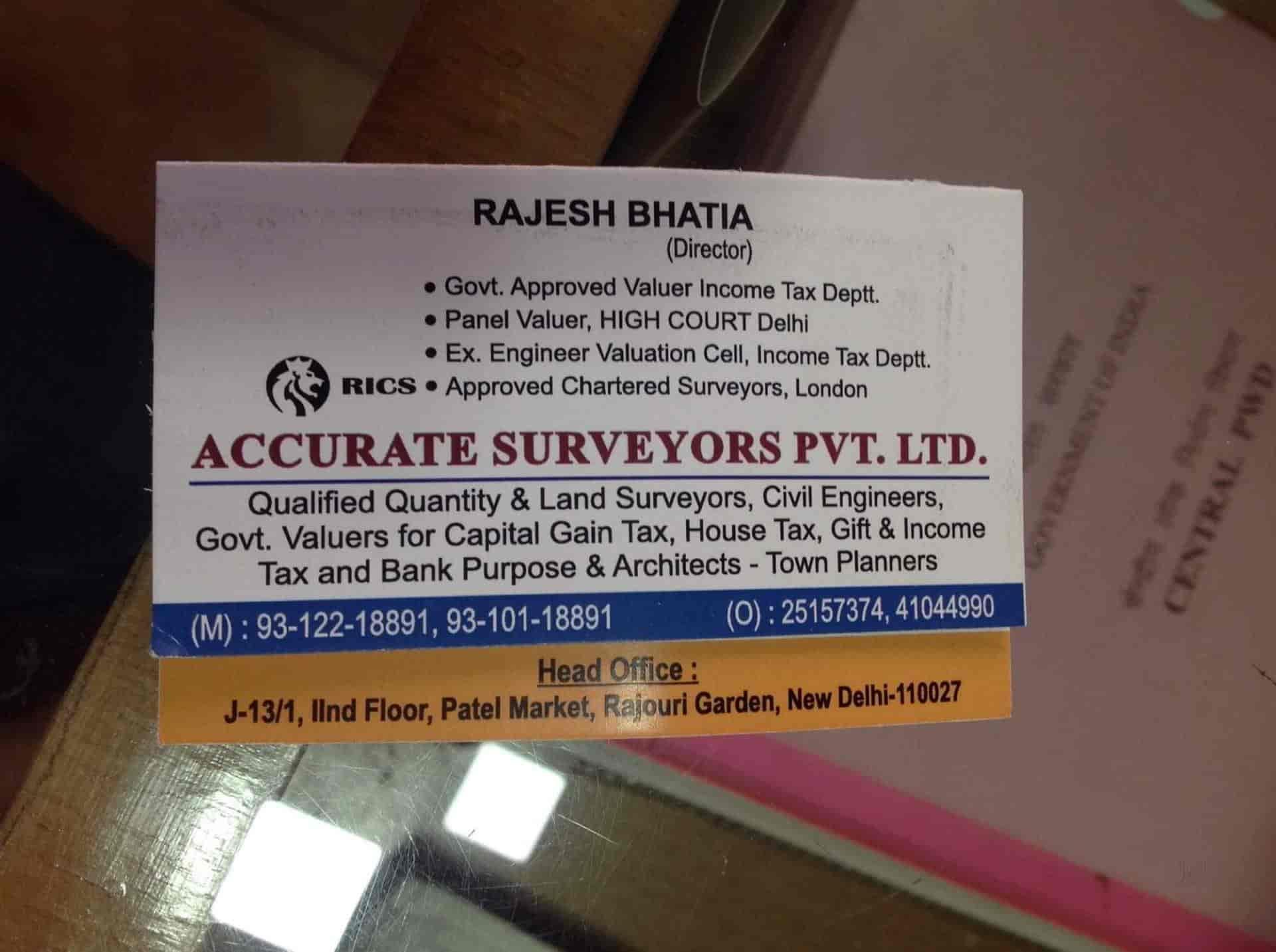 Accurate Surveyors Pvt  Ltd , Rajouri Garden - Architects in