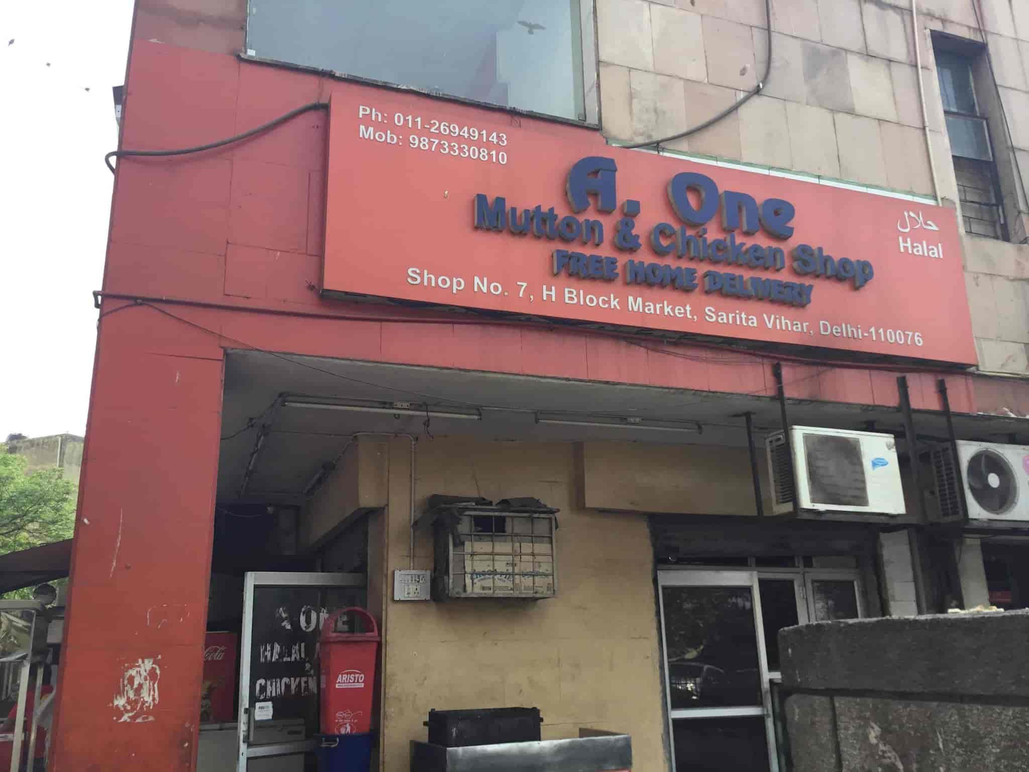 A One Halal Meat Chicken Shop Photos, Sarita Vihar, Delhi- Pictures