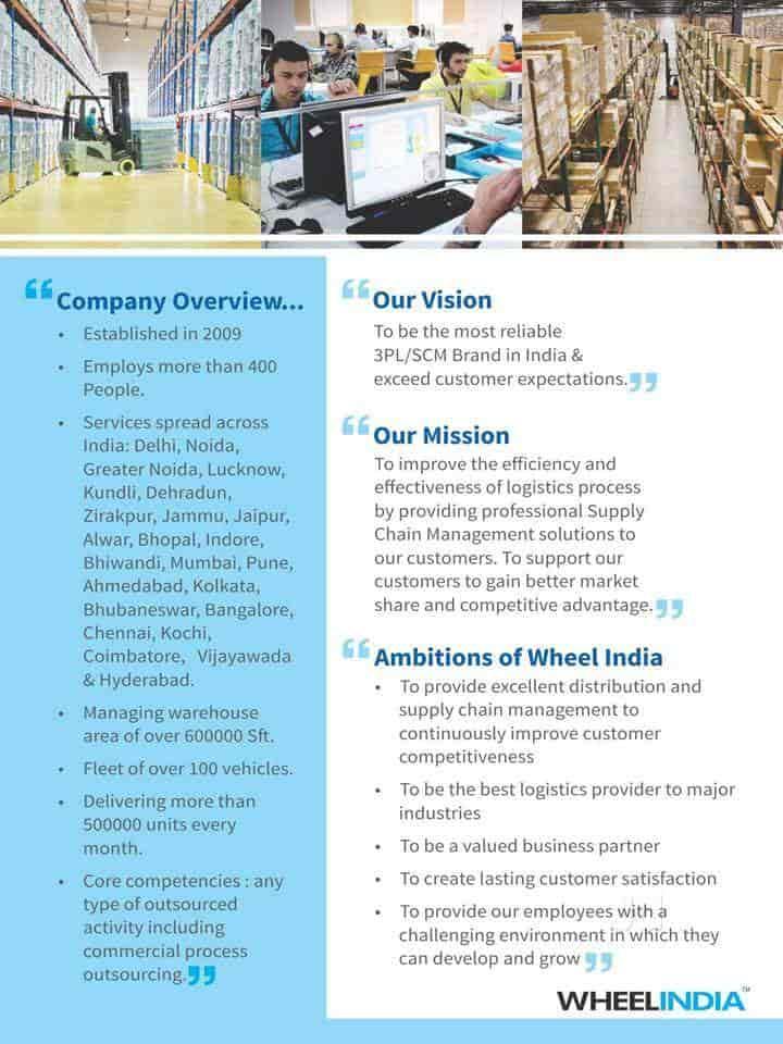 Wheel India Scm Solutions Pvt Ltd, Okhla - Warehouse Management in