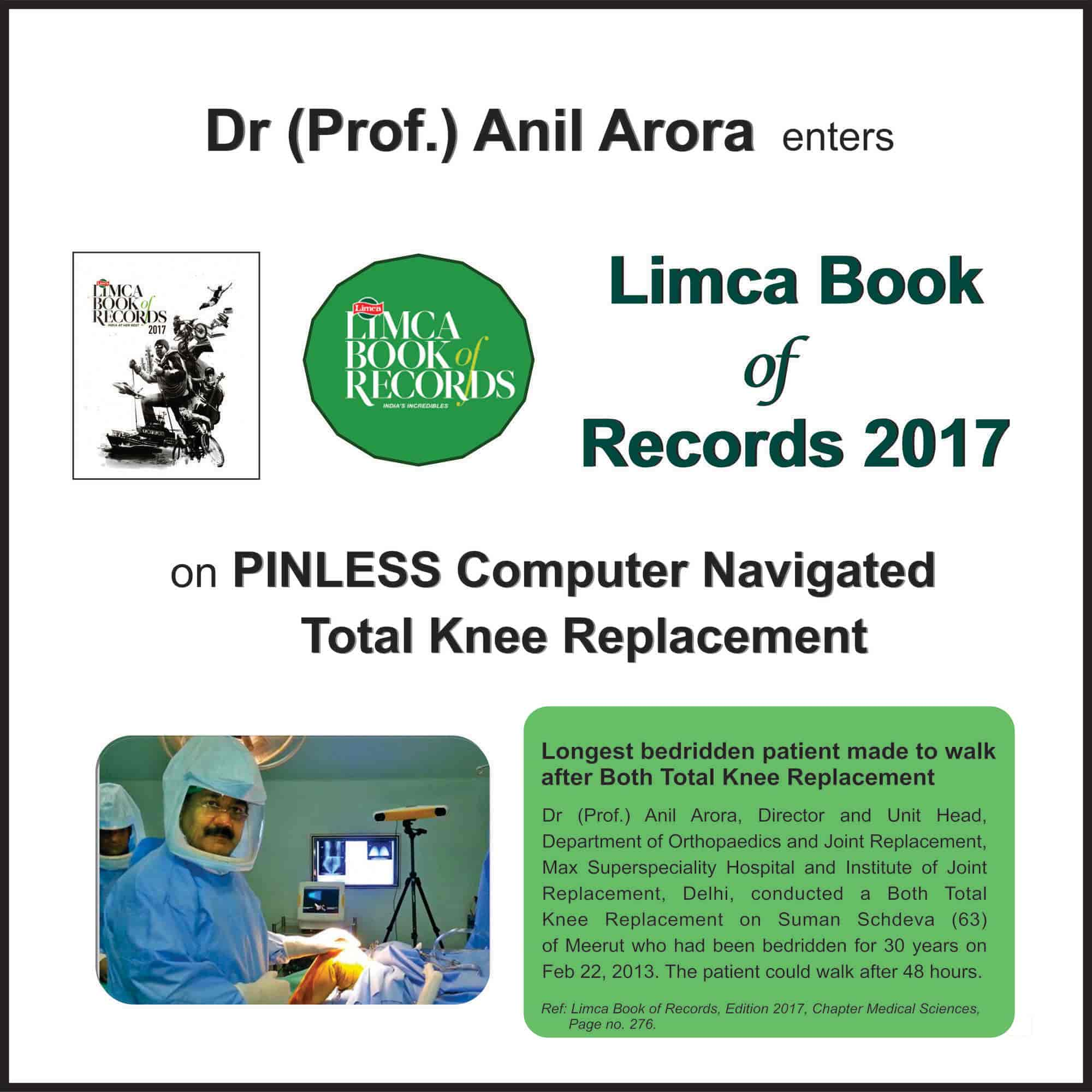 Prof Arora Knee And Hip Surgery Clinic Center For Knee Hip