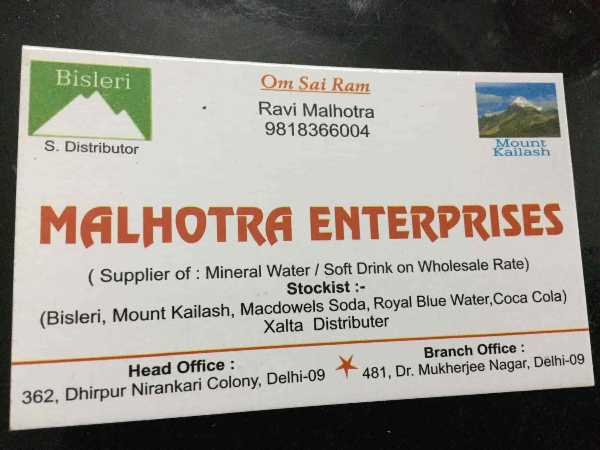 Malhotra Enterprises, Nirankari Colony - Soft Drink