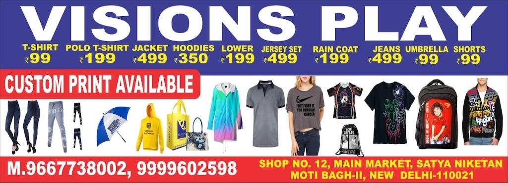4efb14f1a0c Visions Play, Satya Niketan - T Shirt Printers in Delhi - Justdial