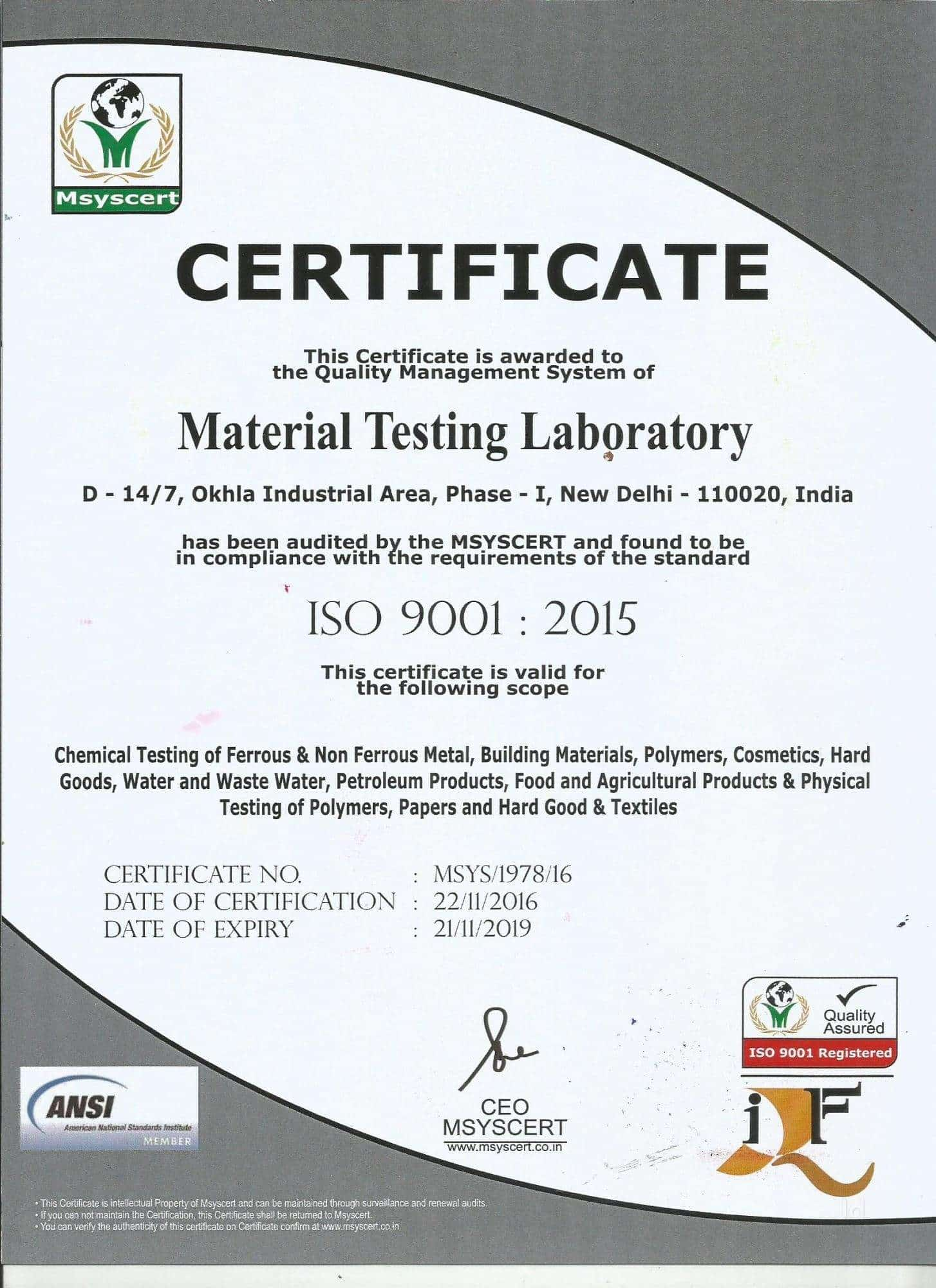 Material Testing Laboratory Photos, Okhla Industrial Area Phase 1