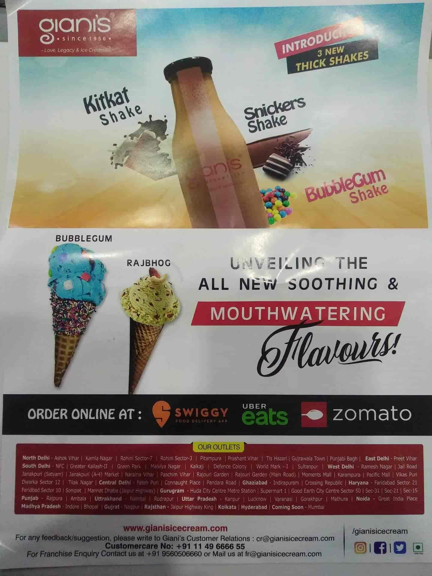 Gianis Ice Cream, Rohini Sector 14, Delhi - Restaurants