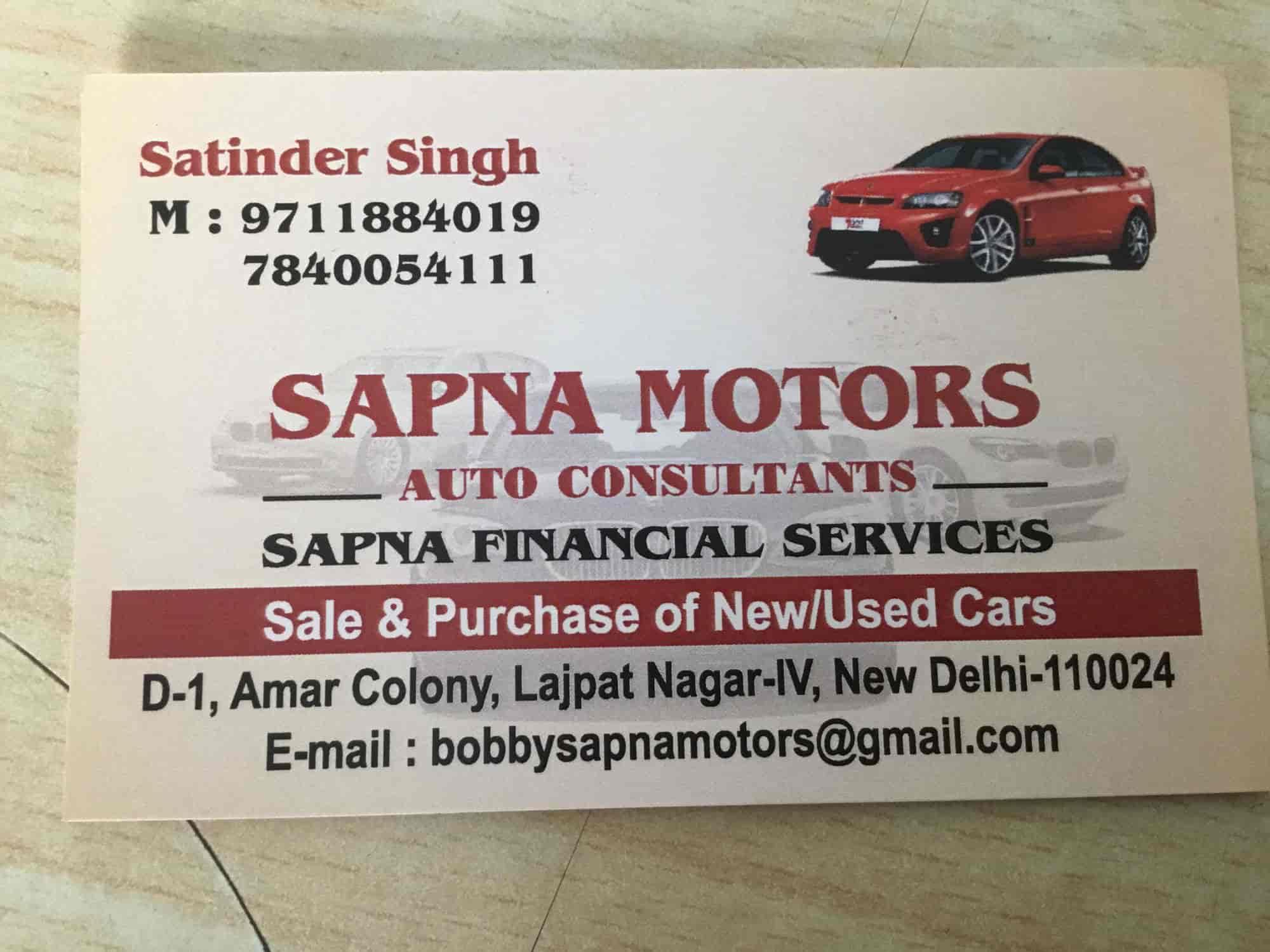 Sapna Motors, Lajpat Nagar 4 - Second Hand Car Dealers in Delhi - Justdial