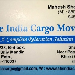 Safe INDIA Cargo Movers, Mahipalpur - 24 Hours Packers And