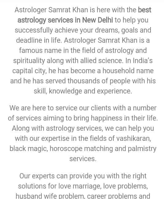 Astrologer Samrat Khan, Karol Bagh - Astrologers in Delhi