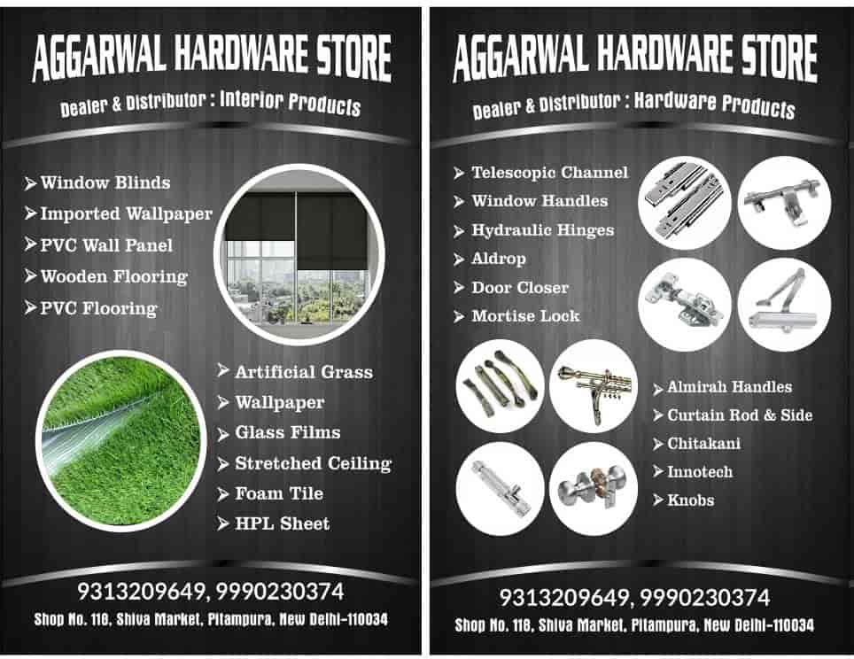 Ram Nath Aggarwal and Sons, Sirkiwalan - Wall Paper Dealers