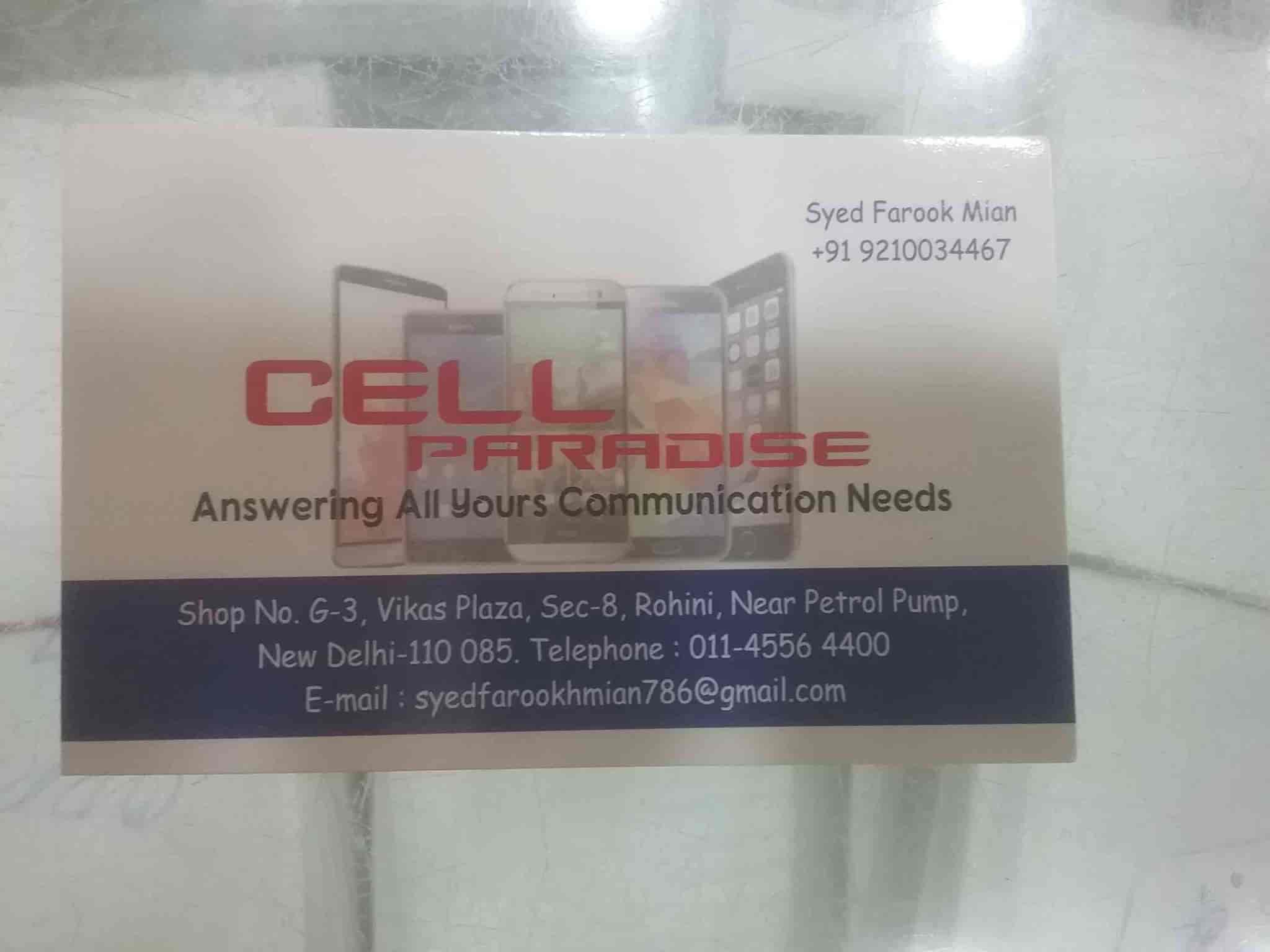 Cell Paradise, Rohini Sector 8 - Mobile Phone Dealers in