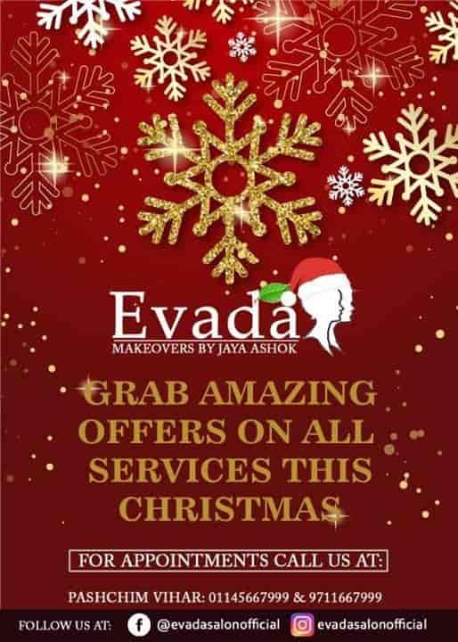 Christmas Beauty Appointments.Evada Unisex Salon Paschim Vihar Beauty Parlours In Delhi