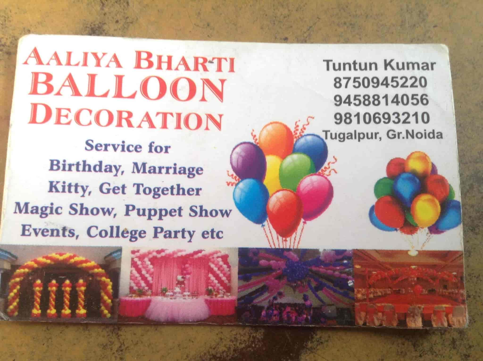 Aaliyah Balloon Decoration Greater Noida Balloon Decorators In