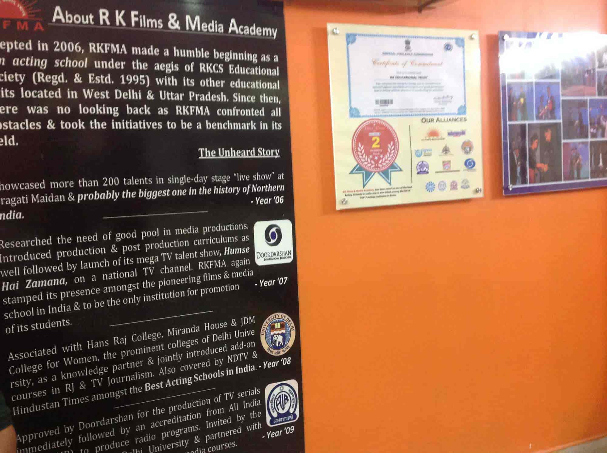 Rkfma School Of Mass Communication Media Studies Karol Bagh