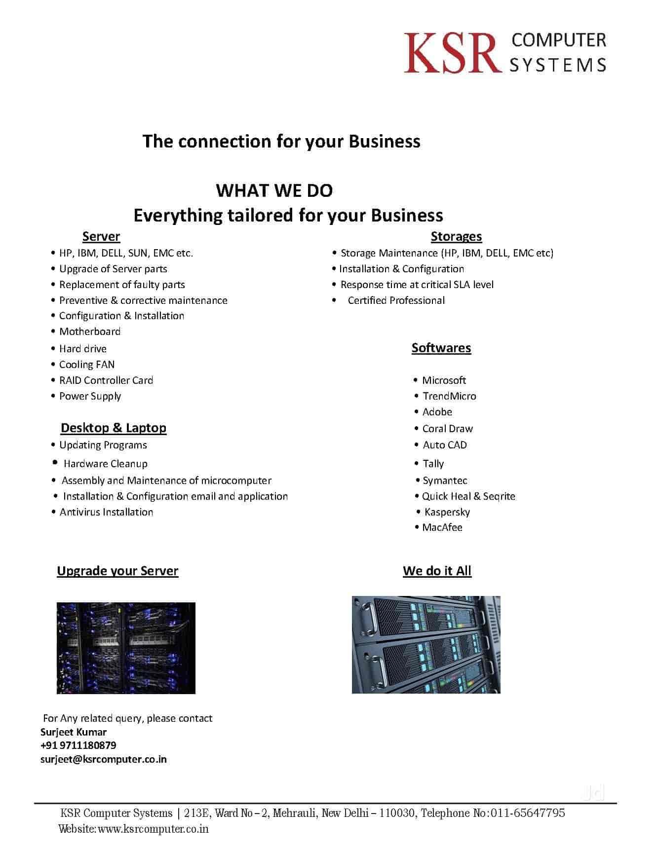 ... KSR Computer Systems Photos, Mehrauli, Delhi - Computer Repair &  Services ...