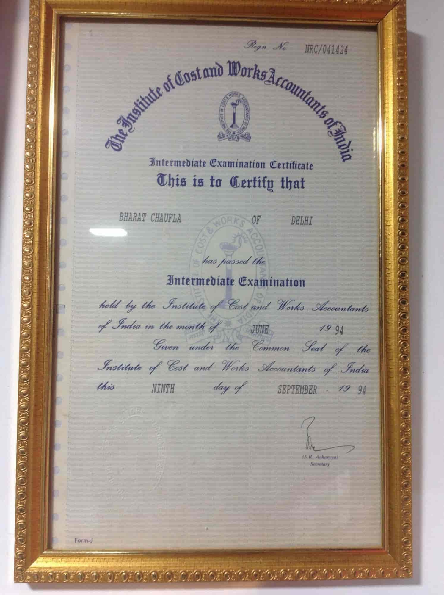 Chaufla Bharat Associates A Unit Of Pawan Chaddha Associates And