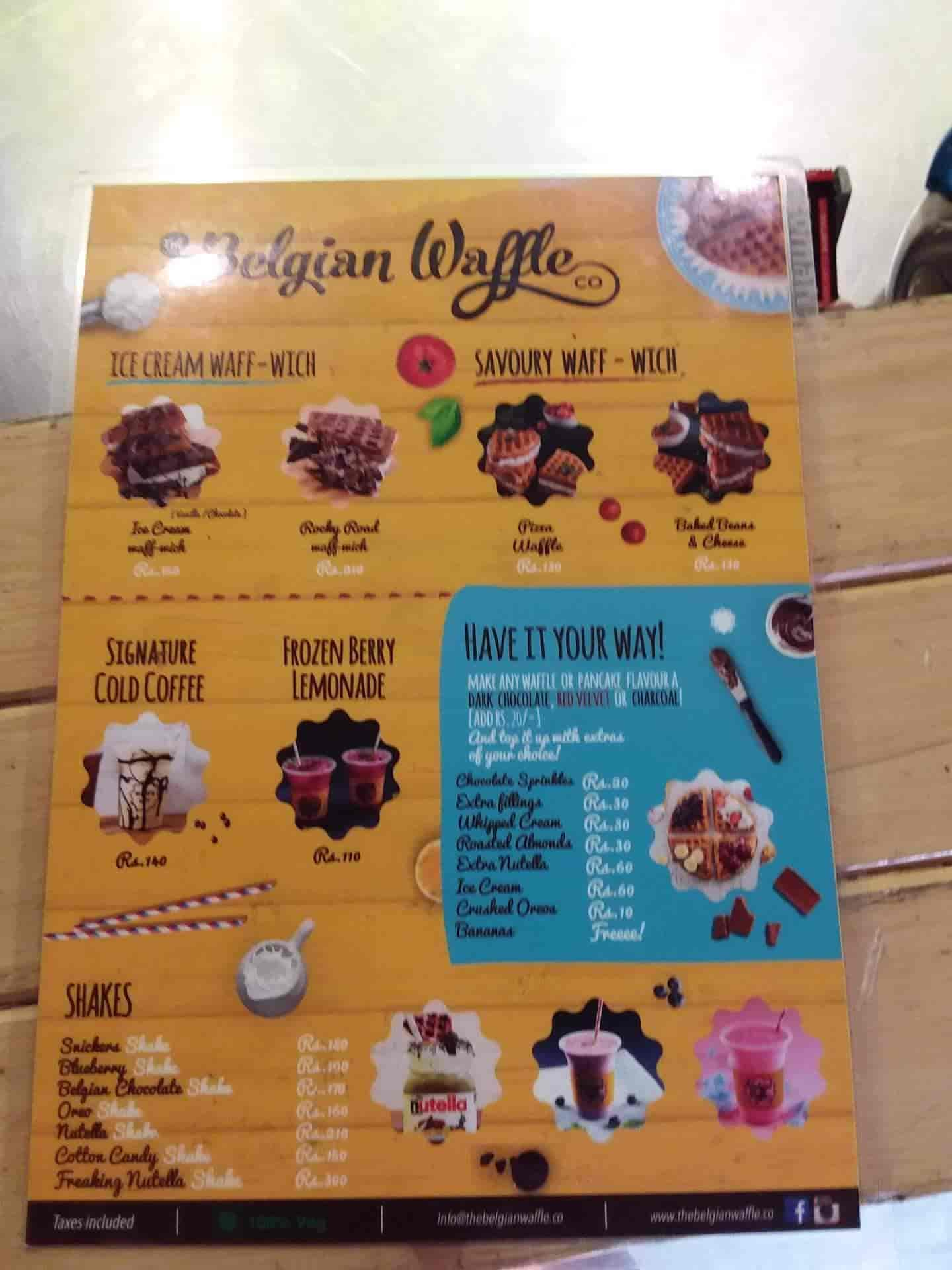 The Belgian Waffle Co, Lajpat Nagar, Delhi - Waffle Centres