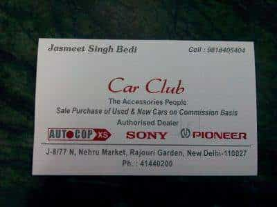 The Car Club Rajouri Garden Car Accessory Dealers In Delhi Justdial