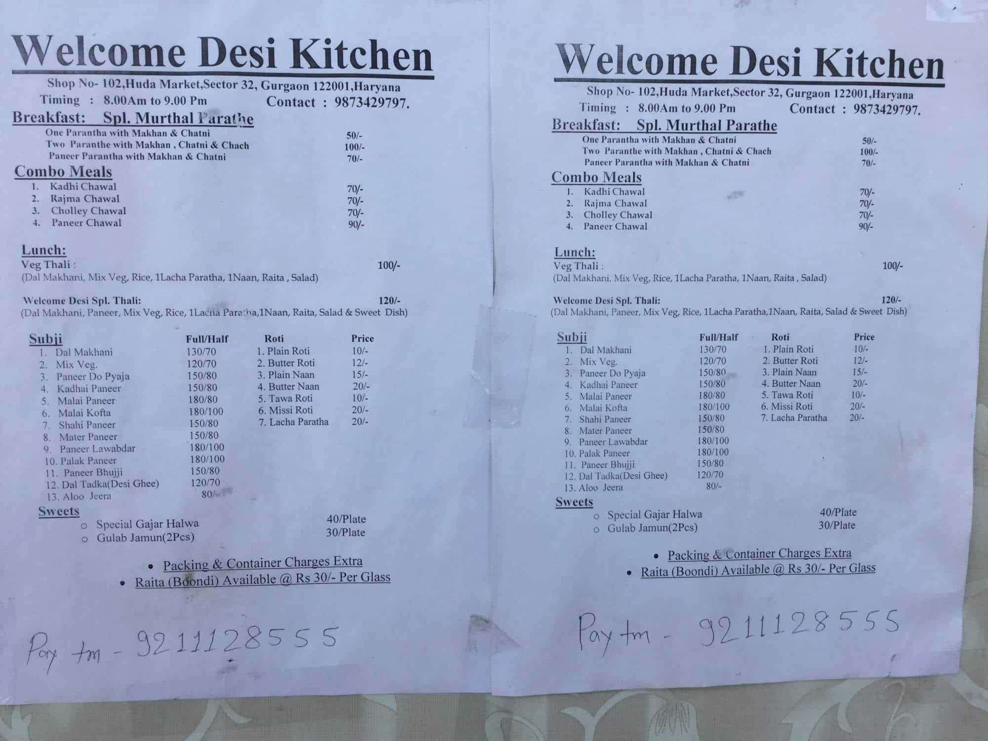 Welcome desi kitchen (Closed Down) Photos, Sector 32, Gurgaon ...