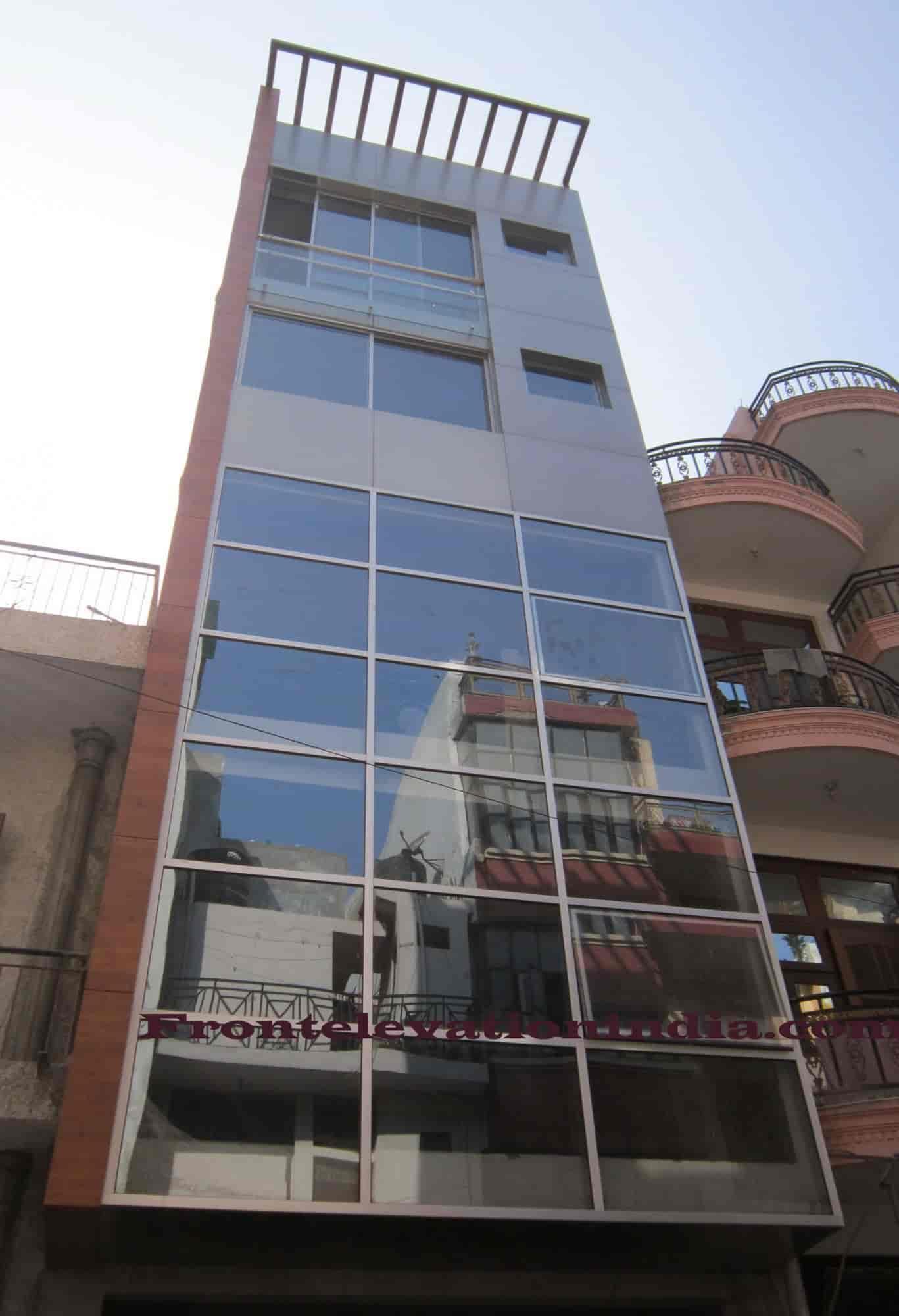 Front Elevation Acp Contractor Kotla Mubarakpur Aluminium