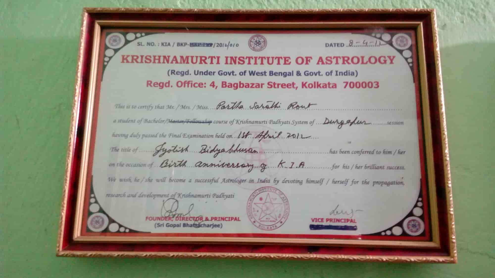 Partha Sarathi Rout, Benachity - Astrologers in Durgapur - Justdial