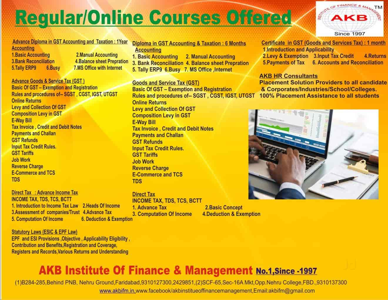 AKB Institute Finance And Management, New Industrial