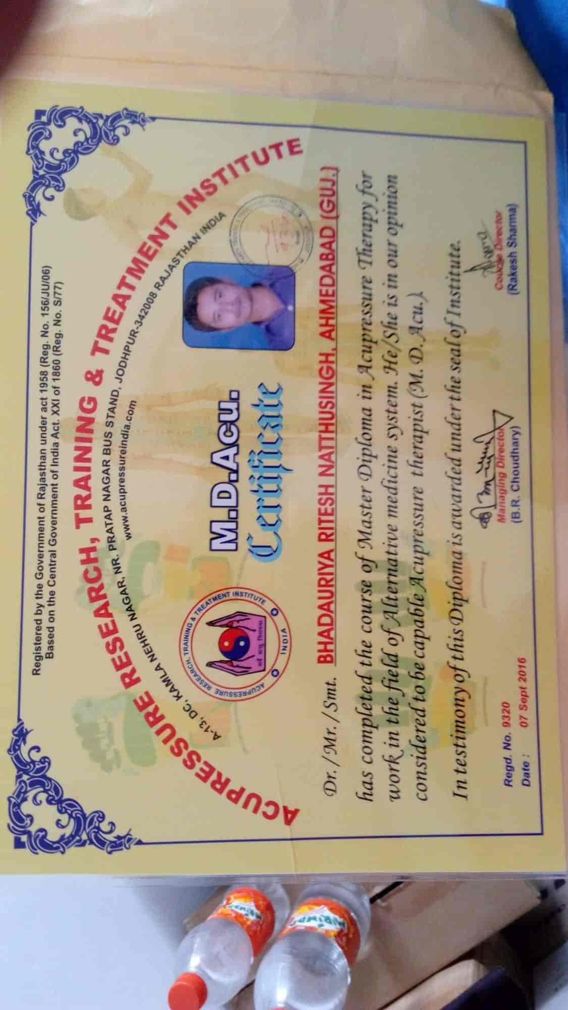 Shivkrupa Acupressure Treatment And Training Centre, Kudasan