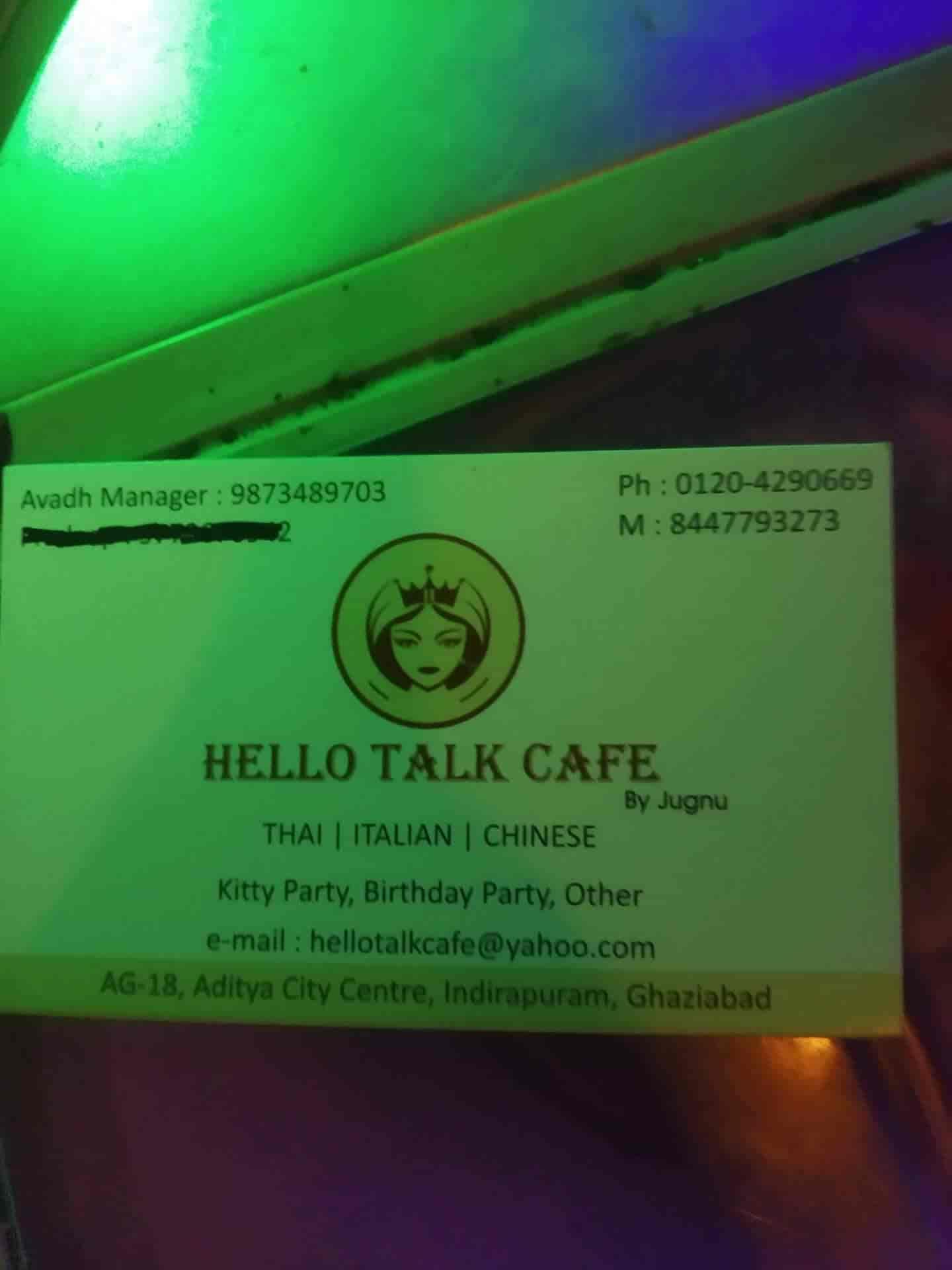 Hello Talk Cafe Reviews, Indirapuram, Ghaziabad - 131 Ratings - Justdial
