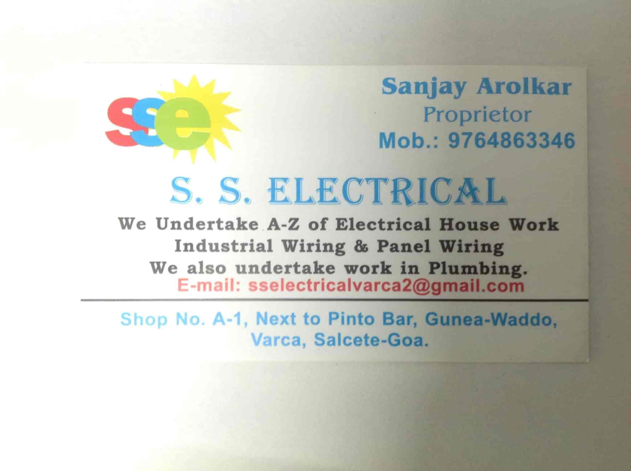 Ss Electricals Varca Electricians In Goa Justdial
