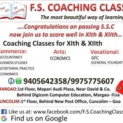 F S Coaching Classes, Margao - Tutorials For Class XII in