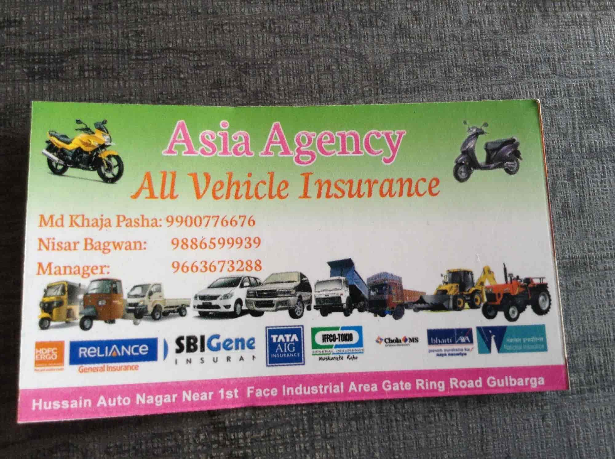 Asia Agency Insurance - Vehicle Insurance Agents in Gulbarga - Justdial