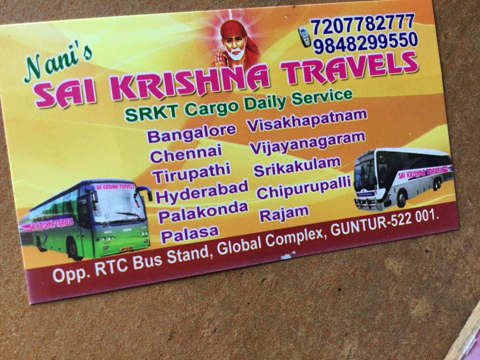 Nani Sai Krishna Travels Photos, Old Guntur Bus Stand, Guntur