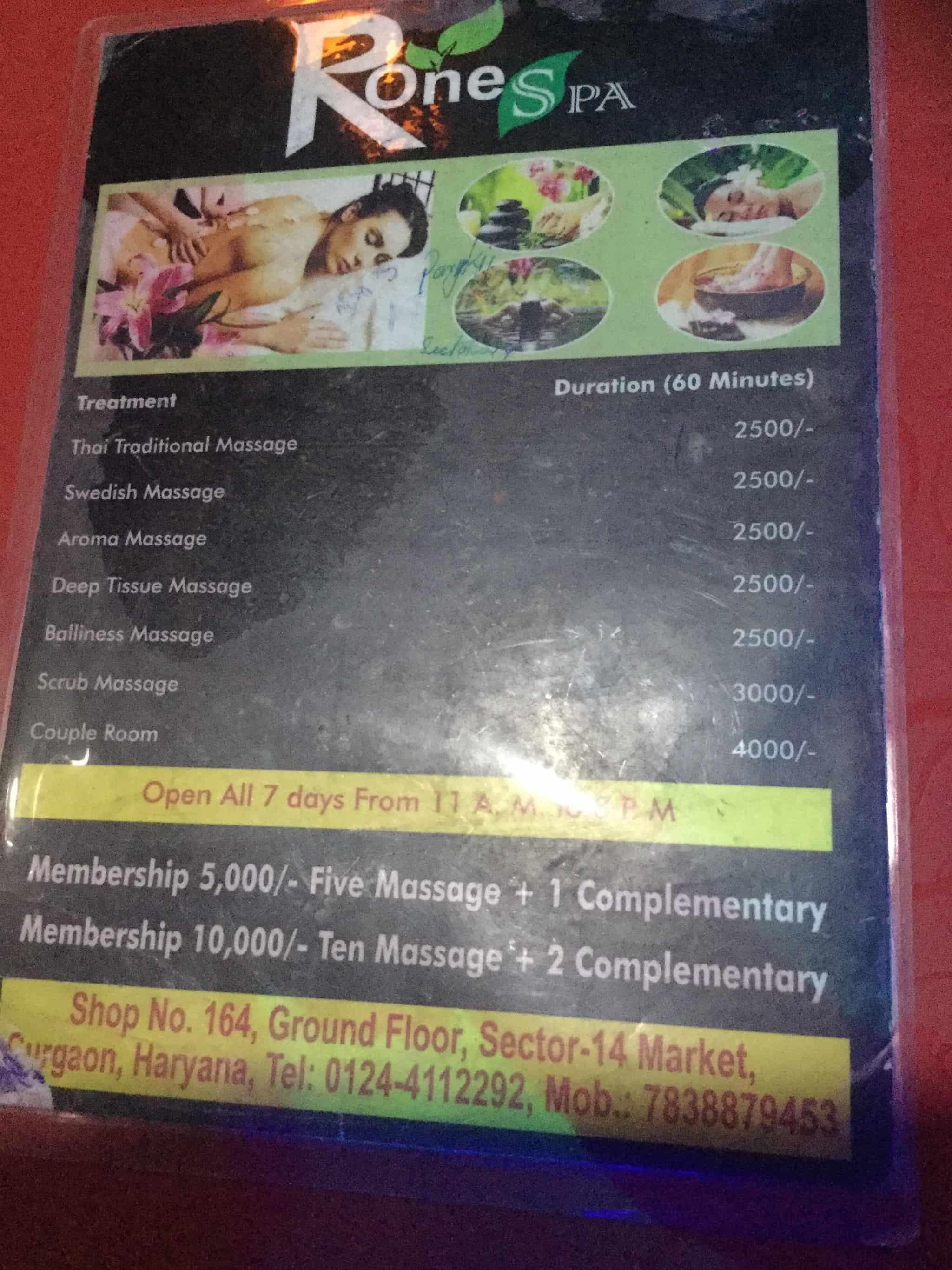 Rone Spa Gurgaon Sector 14 Body Massage Centres In Gurgaon