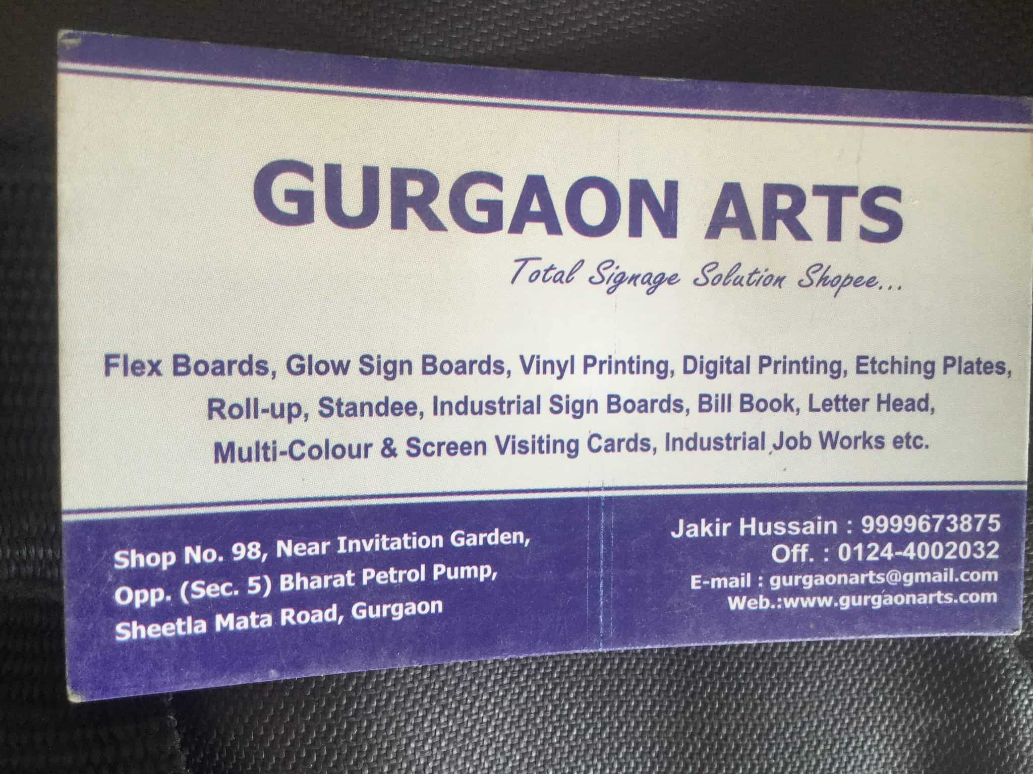 Gurgaon arts printers for visiting card in delhi justdial reheart Images