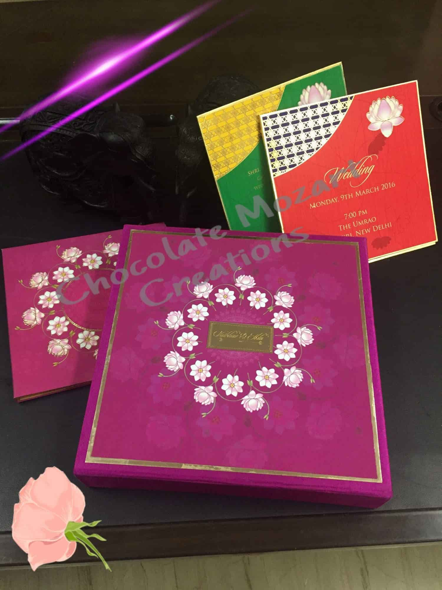 Chocolate Mozart Confections Designer Wedding Cards N Boxes Photos ...