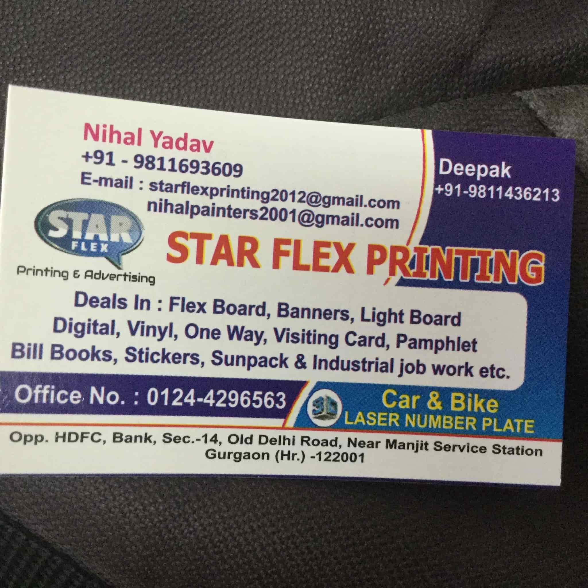Star flex printing photos sector 14 gurgaon pictures images star flex printing photos sector 14 delhi printers for visiting card reheart Gallery