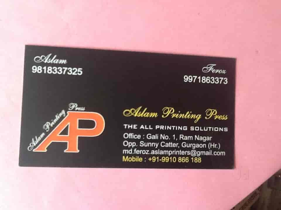 Aslam printing press gurgaon sector 8 printers for visiting card aslam printing press gurgaon sector 8 printers for visiting card in delhi justdial reheart Images