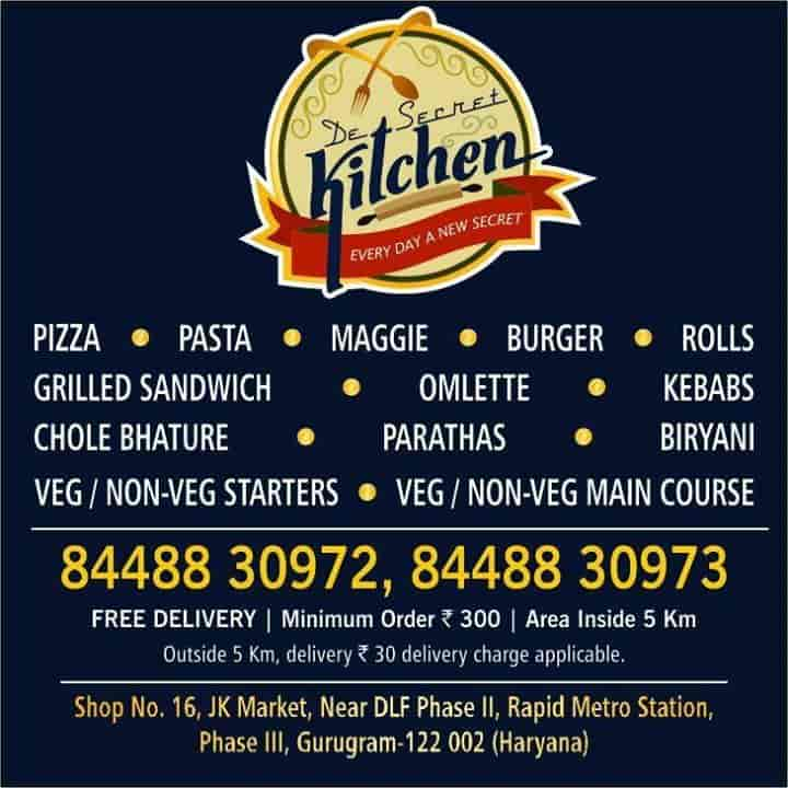 De Secret Kitchen, DLF Phase 3, Delhi - Home Delivery Restaurants