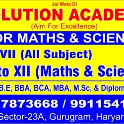 Solution Academy For Maths and Sciences, Palam Vihar - Tutorials in