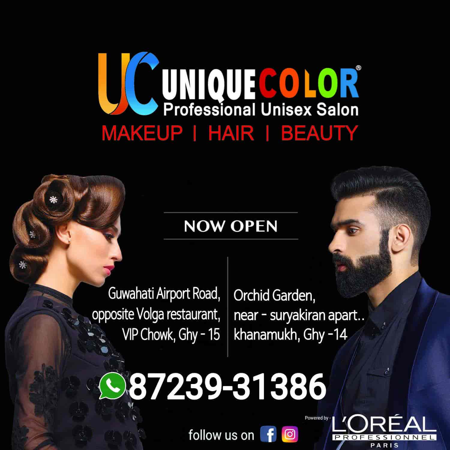 Unique Color Hair & Beauty Salon, Jalukbari - Salons in Guwahati
