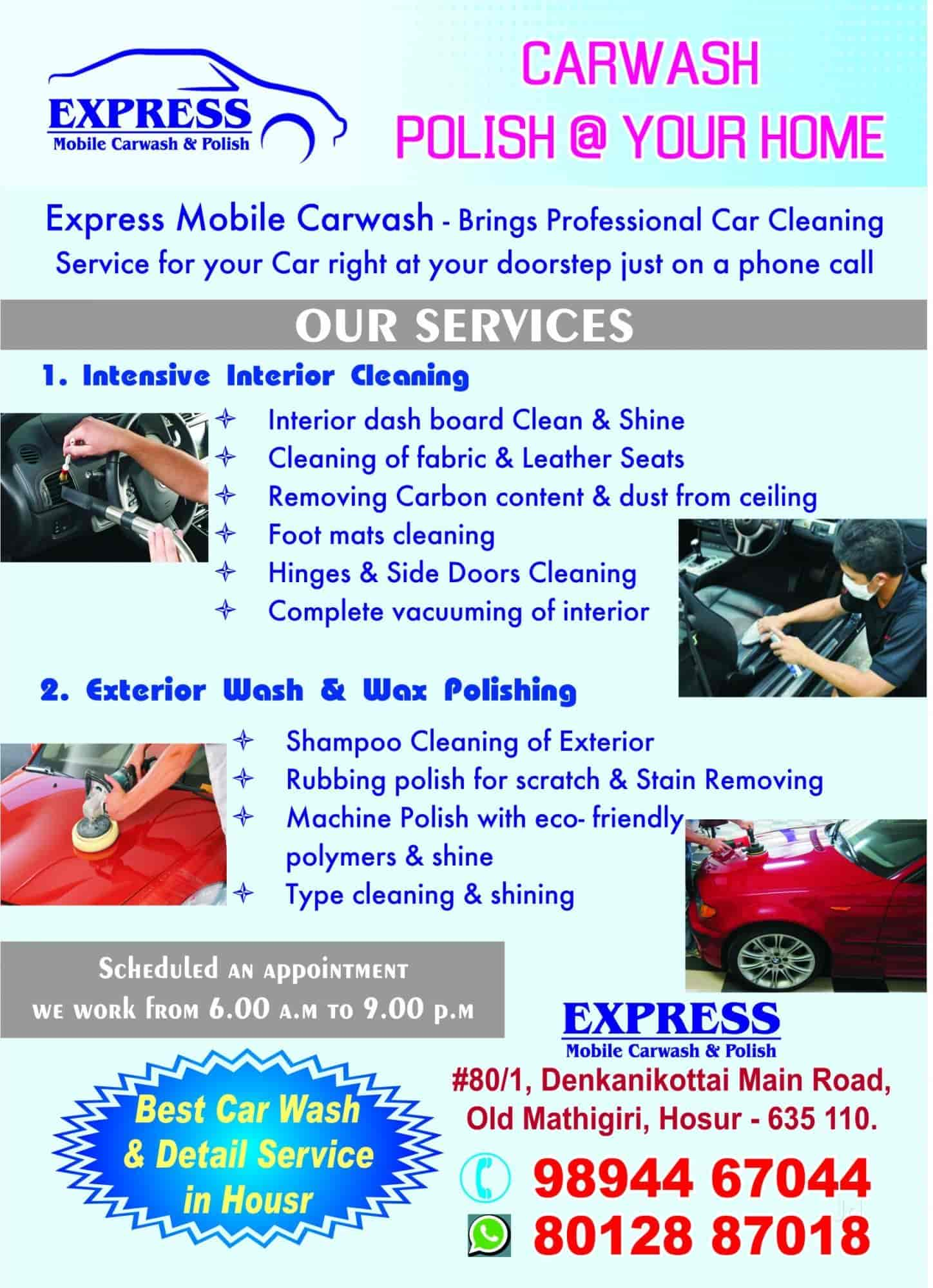 Express Mobile Car Wash Hosur Cattle Farm Car Washing