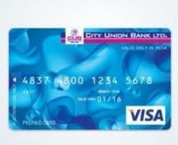 City Union Bank Atm Card