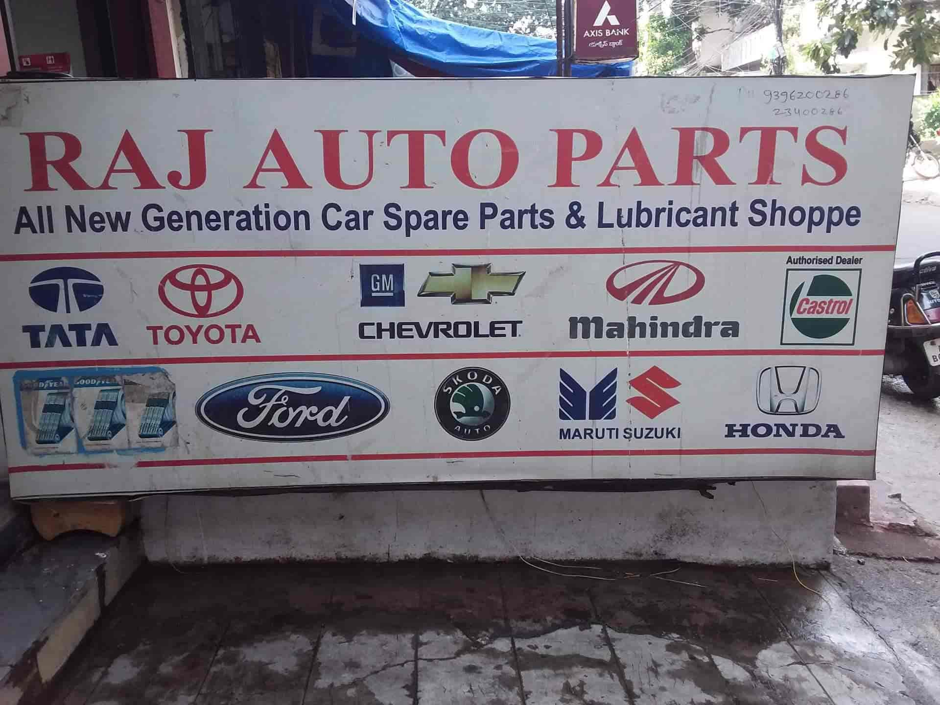 Raj Auto Parts Ameerpet Four Wheeler Spare Part Dealers In