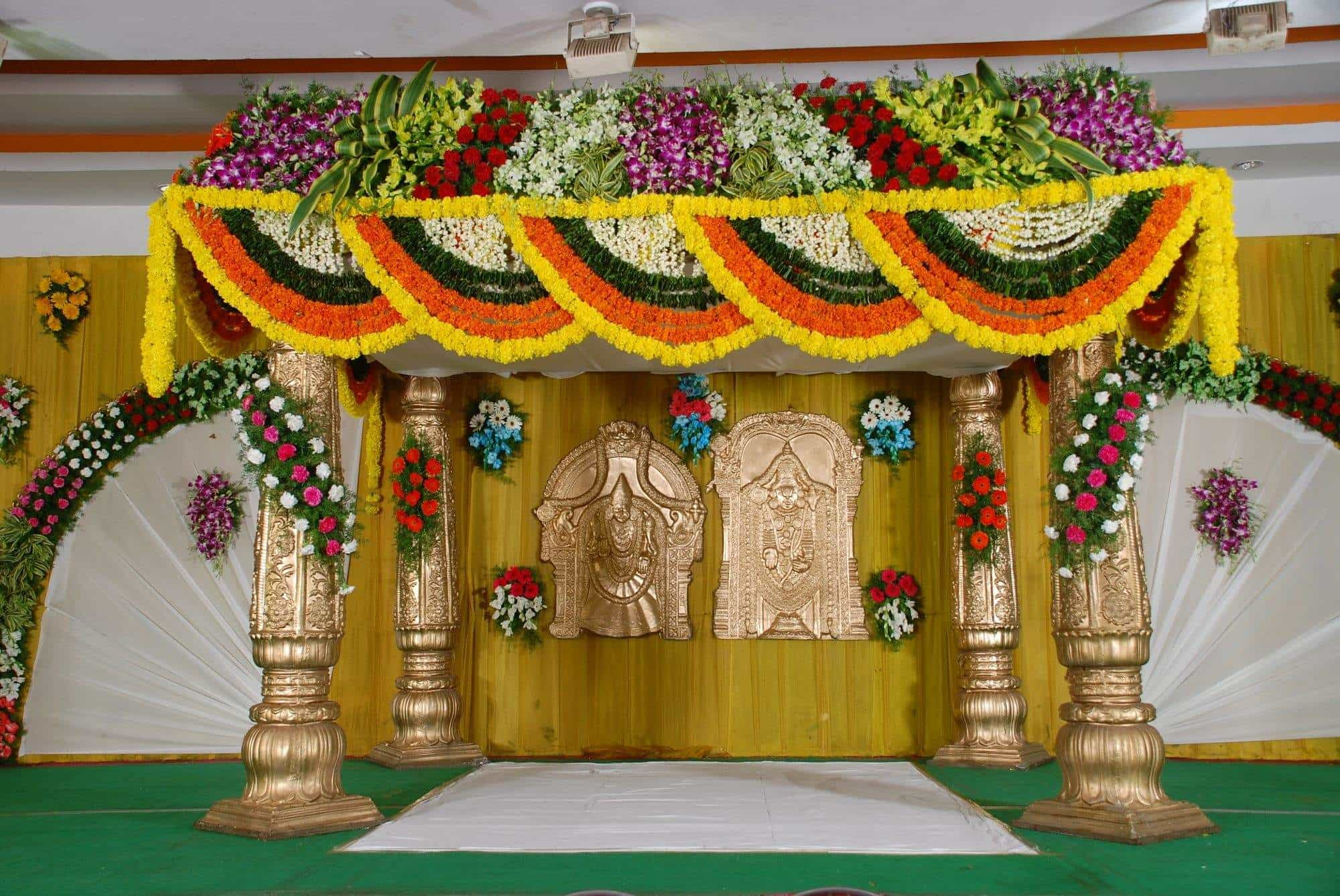 sree vigneshwara flower decoration photos  moosarambagh