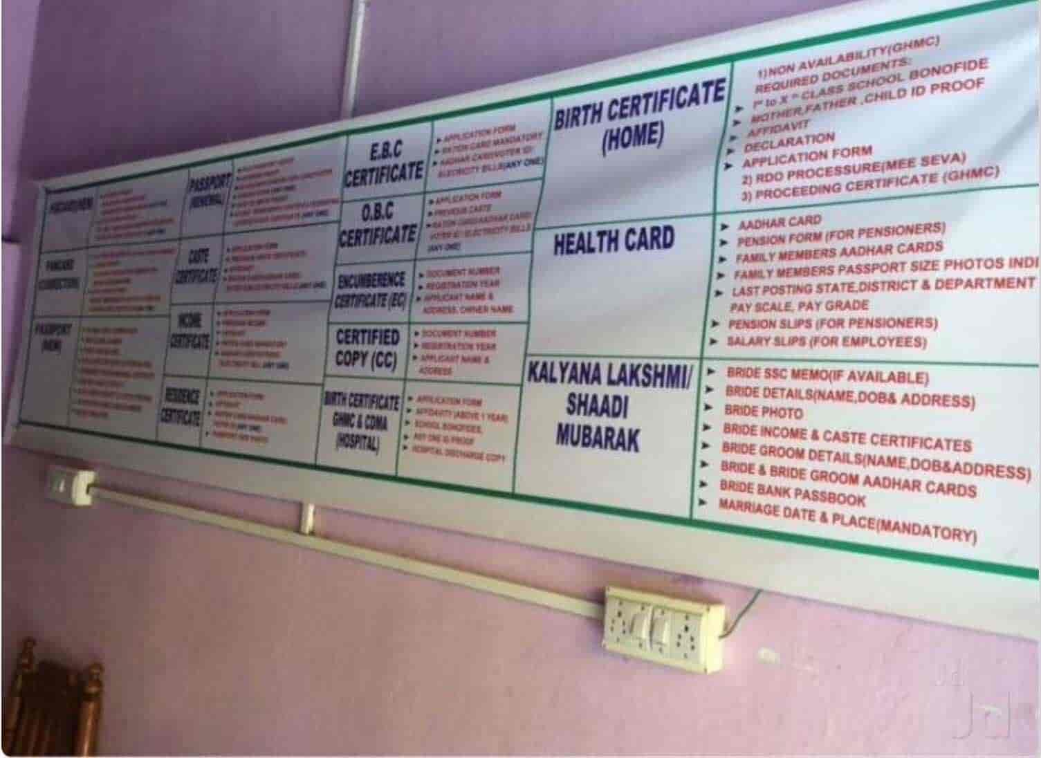 Prem E Seva & Ap Online, Dilsukhnagar - E Seva Bill Payment