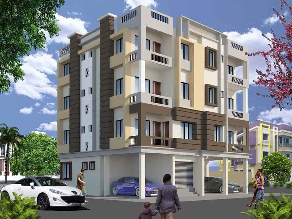 ... 3D Building Elevation Design   3d Buildings Elevation Designs And Plans  Photos, Suchitra Junction, ...