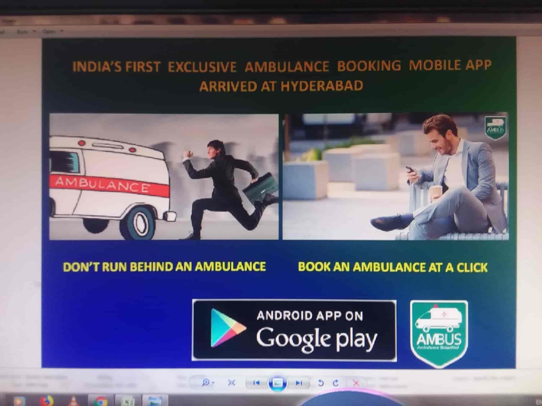 Ambus Ambulance Booking Mobile App, RTC X Roads - Ambulance Services