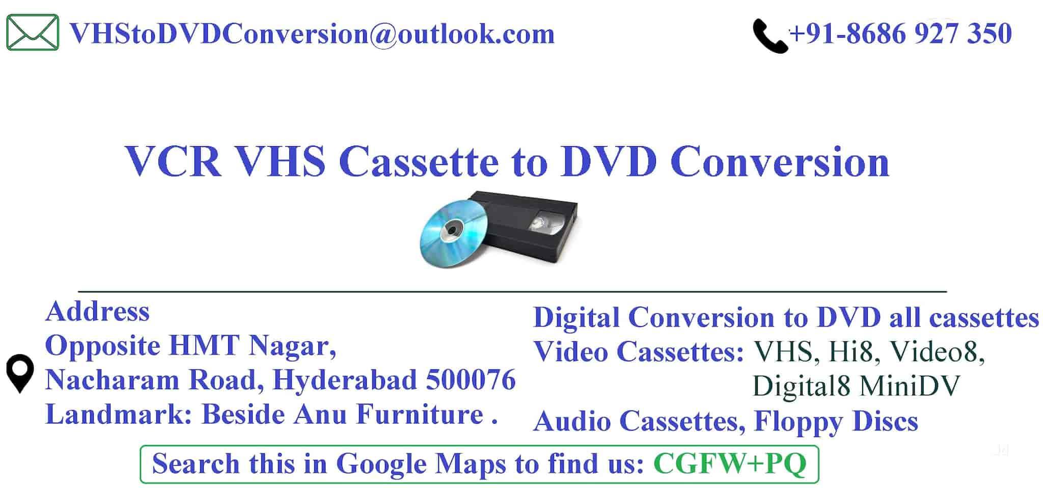 VHS Conversion Service, Nacharam - Vhs Tape To CD Conversion