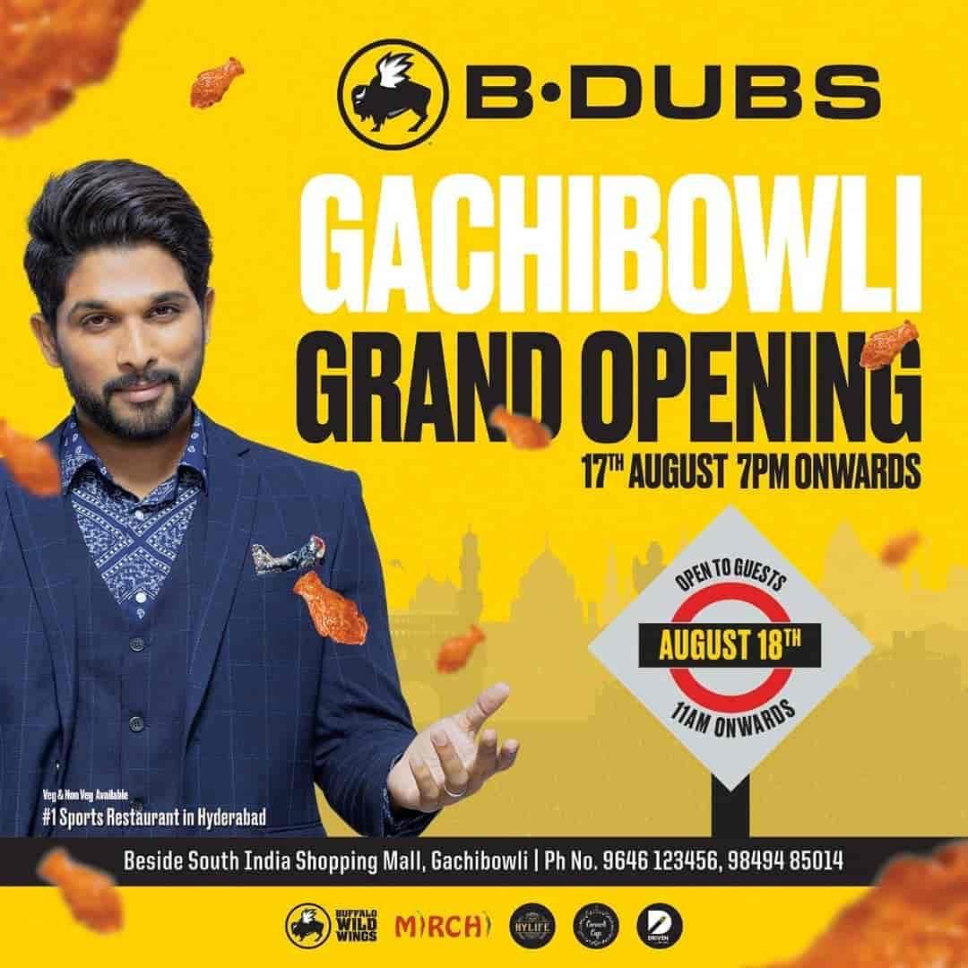 Buffalo Wild Wings, Jubilee Hills, Hyderabad - Restaurants