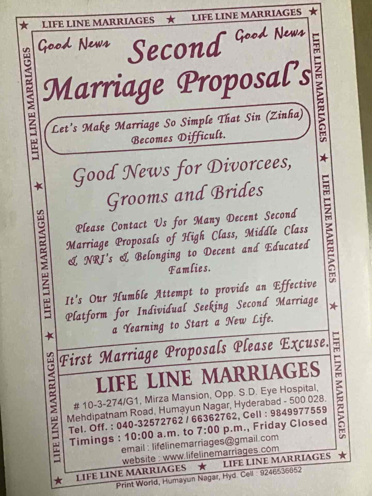 Life Line Marriages, Humayun Nagar - Matrimonial Bureaus in